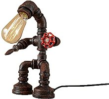 E27 Table de robot Lampe de table de cuivre Tuyau