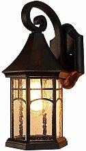 E27 Vintage Lampe d'extérieur étanche noire