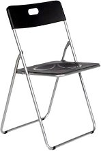 Easy Black Chaise Pliante en métal pour Cuisine,