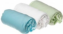Easy Dort - Lot de 3 Draps housse Coton pour lit