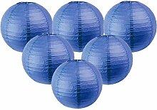 Easy Joy 12 pcs 30 cm Lanterne Papier Bleu Marine