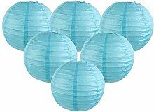 Easy Joy Lanterne Papier Bleu Ciel Decoration 12