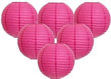 Easy Joy Lanterne Papier Fushia Decoration Lampion