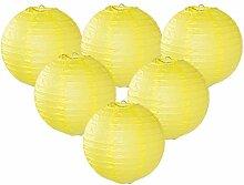 Easy Joy Lanterne Papier Jaune Decoration 12pcs 30