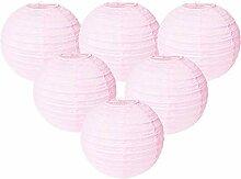 Easy Joy Lanterne Papier Rose Pale 30cm 12pcs