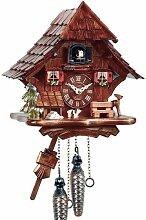 Eble 11543 Horloge coucou en bois véritable avec