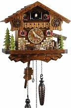Eble 21448 Horloge coucou en bois véritable avec