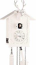 Eble 24380 Horloge coucou en bois véritable avec