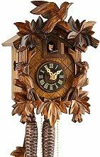 Eble Horloge à coucou mécanique en bois