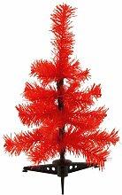 eBuyGB Mini Sapin de Noël Artificiel Rouge