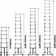 Échelle télescopique en aluminium - 3.80 mètres
