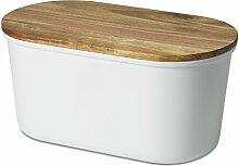 ECHTWERK Fresh Boîte à Pain, Bois, Blanc, 37 x