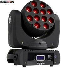 Éclairage de scène professionnel DMX 12x12w RGB,
