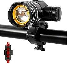 Éclairage de vélo lampe de vélo led lumière