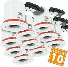 Eclairage Design - Lot de 10 Supports de spot