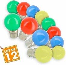 Eclairage Design Lot de 12 Ampoules LED B22