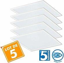 Eclairage Design - Lot de 5 Dalles LED Pro 40W -