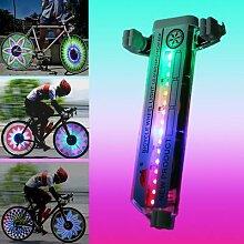 Eclairage LED étanche pour rayons de vélo, 30