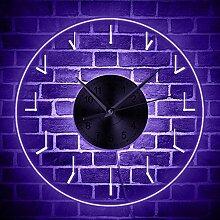 Éclairage LED Horloge Murale Acrylique LED Bord