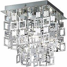 Éclairage plafonnier luminaire plafond chrome