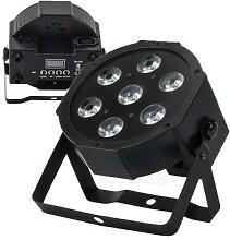 Éclairage professionnel 7x18W RGBWA + UV 6 en 1