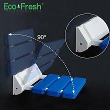 Ecofresh – siège de douche mural, pliable, pour