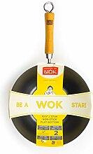 école de Wok Anti-adhésif Wok Star Wok en Acier