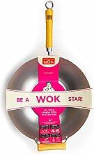 École de Wok de Wok Star Wok en Acier Carbone,