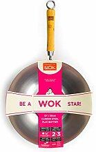 école de Wok Wok Star Wok en Acier Carbone,