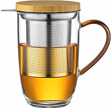 ecooe Tasse à thé en verre borosilicate 440 ml