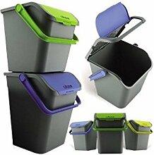 Ecoplast Poubelle 3pièces pour tri sélectif