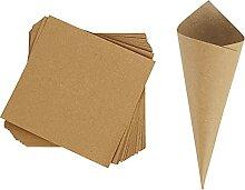 ECYC 30pcs Cônes De Confettis De Mariage Papier