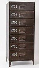 EDELL - Commode Industrielle métal 7 tiroirs