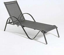 Edenjardin - Chaise longue en aluminium Tumbona 1