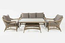 Edenjardin - Ensemble canapé de jardin, table