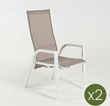 Edenjardin - Lot de 2 fauteuils de Jardin |