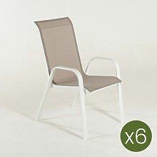 Edenjardin - Lot de 6 fauteuil d'extérieur