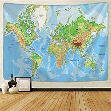 EDESY tapisserieVintage Carte du Monde Impression