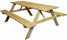 EDM - Table de Pique-Nique en Bois - Bois