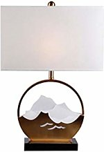 EDMONG Lampe de Bureau Lampe de Table en Or, Lampe