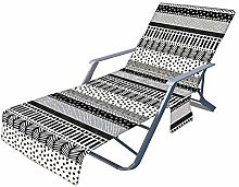 EEOO Chaise de Plage Couverture avec Poches,