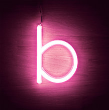 Efectoled - Lettres Néon LED Rose B Rosa - B Rosa