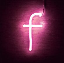 Efectoled - Lettres Néon LED Rose F Rosa - F Rosa