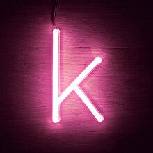 Efectoled - Lettres Néon LED Rose K Rosa - K Rosa