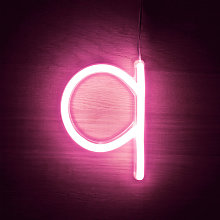 Efectoled - Lettres Néon LED Rose Q Rosa - Q Rosa