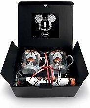 Egan service 2 mugs empilables Mickey avec 2 sets