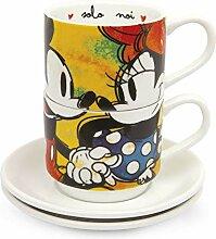 Egan service 2 tasses à café empilables Mickey