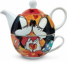 Egan théière avec tasse Mickey et Minnie Rouge