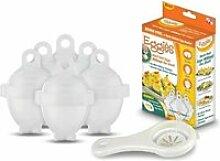Eggies - 6 moules cuit oeuf micro-onde bain-marie