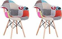 EGOONM Ensemble de 2 chaises, Fauteuil Patchwork,